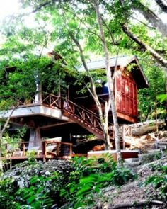 Zing-Zing Villa, Dominica, one of four villas and bungalows at Secret Bay, is a wooded bilevel hideaway. #Jetsetter