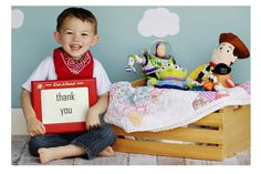 Toy Story thank you card photo
