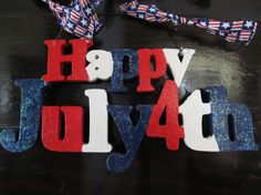 Wood Happy July 4th Plaque by MesheleCrafts on Etsy