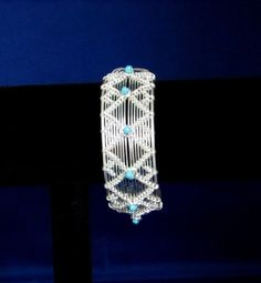 Lisa Barth Design Sterling Silver Cuff by BentMetalsandBeads