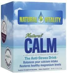 Magnesium is the relaxation mineral and a tonic for mood and cramps. Blend this powdered magnesium packet with warm water. @Natural Vitality