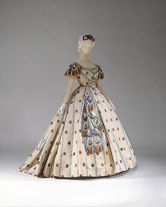 Ball Gown 1861-1862 United States MET