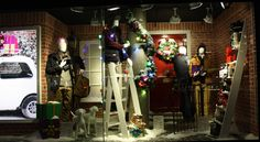 Debenhams Christmas Window Display by Elemental Design.