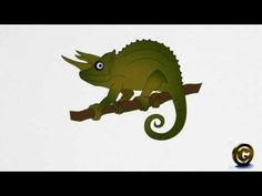 How to draw a CHAMELEON step by step