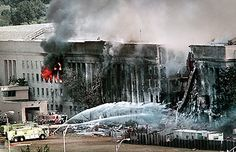 Emergency crews spray water on the burning Pentagon approximately three hours after a hijacked jetliner crashed into the building's west side on September Part of the building collapsed 32 minutes after the crash. We Will Never Forget, Lest We Forget, 11 September 2001, Bodies, Historia Universal, We Remember, Pearl Harbor, World Trade Center, Historical Photos