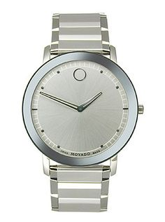 Movado Sapphire Two-Hand Stainless Steel Men's watch #0606881