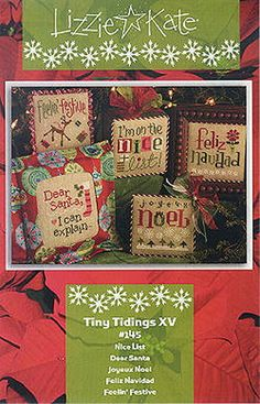 Lizzie Kate Tiny Tidings XV Christmas Cross by DebiCreations
