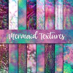 Mermaid Textures Digital Paper - Graphics Get these charming digital illustrations! I like this Digital Paper. I need to find a mermaid cut file to use with it.