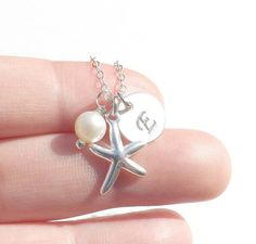 Starfish necklace  Personalized Sterling by jewelrycraftstudio, $28.90