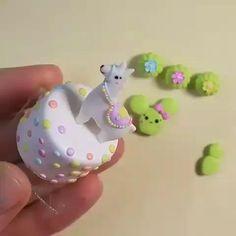 Polymer Clay Turtle, Polymer Clay Kawaii, Polymer Clay Charms, Polymer Clay Creations, Clay Art For Kids, Animal Crafts For Kids, Diy Clay, Clay Crafts, Crea Fimo
