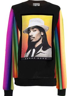 956a3a8a99a2 Dogg Snoop Dogg Rainbow Gradient Sweater – IDILVICE Slouchy Sweater,  Pullover Sweaters, Snoop Dogg
