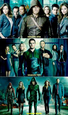 good show. rp:Arrow poster: Seasons They keep getting farther away. By season 10 there might not be anyone in the poster! Arrow Cw, Arrow Oliver, Team Arrow, Arrow Tv Series, Cw Series, Thea Queen, The Flash, Marvel Dc, Arrow Flash