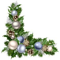 Christmas Deco Corner with Decorations PNG Picture