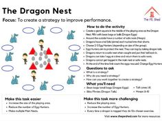 The Dragon Nest is a PE game focused on movement and getting students to think about individual and group strategies. This resource includes how to play, questions to ask and how to differentiate.This is perfect for Primary / Elementary / Ph. Physical Education Activities, Elementary Physical Education, Pe Activities, Movement Activities, Science Education, Health Education, Education Week, Health Activities, Education Center