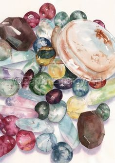 When you experience clarity, you have no room for self-doubt and life and plans move forward with ease. You see the truth of your perceptions and trust them. In a world of increasing complexity, clarity assists you in understanding and articulating your thoughts and desires. In business and in life, clarity helps you see without ambiguity.<br /> Painting of quartz, citrine, fluorite using genuine gemstone and natural pigments to enhance body, mind, and spirit.<br />