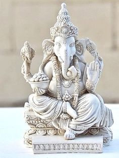 Rare Lord Ganesh Ganesha Beautiful Statues Hindu Good Luck God  White Statues *** Want to know more, click on the image.