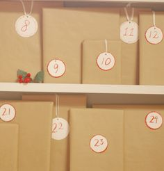 Children's books advent calendar (with a tip that you don't have to *buy* all the books - you can check them out from the library and renew them online!)