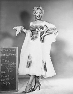 Marilyn Monroe wardrobe test for 'There's No Business Like Show Business', 1954.