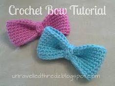 Resultado de imagen para moños a crochet patrones