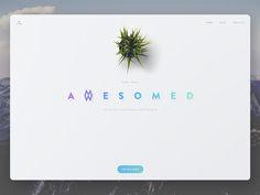"""Awesomed"" design studio website by George Vasyagin"