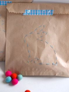 sew a bunny tutorial - gift packaging My girls would have fun making a bunch of these type of gift bags. Maybe one of our summer craft projects. Easter Craft Activities, Easter Crafts, Crafts For Kids, Happy Easter, Easter Bunny, Hip Hop Hooray, Bunny Bags, Gift Packaging, Origami