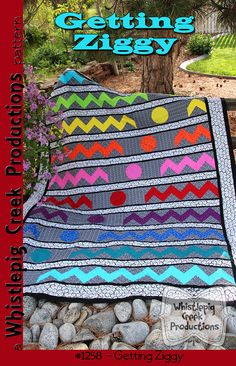 This easy to make quilt would look just as great in School Colors as it does in our Boutique Brights for RJR - three sizes included in the pattern.