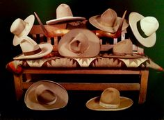 A nice collection of antique cowboy hats