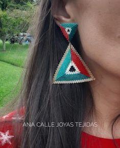 Beaded Earrings, Beaded Jewelry, Drop Earrings, Macrame Bag, Brick Stitch, Bead Weaving, Jewelery, Embroidery, Beads