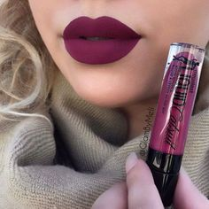 """Berry Recognize"" Megalast Liquid Catsuit Matte Lipstick by Wet n' Wild: I love this plum color Lip Make up Makeup Goals, Love Makeup, Makeup Tips, Makeup Ideas, Fall Makeup Looks, Makeup Stuff, Gorgeous Makeup, Mascara Hacks, Liquid Catsuit"