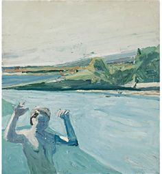 Paul Wonner. Sotheby's New York - THE BATHER. Paul Wonner  rose to prominence in the 1950s as an abstract expressionist associated with the Bay Area Figurative Movement, along with his partner, Theophilus Brown (1919-2012), whom he met in 1952 while attending graduate school. In 1956, Wonner started painting a series of dreamlike male bathers and boys with bouquets.
