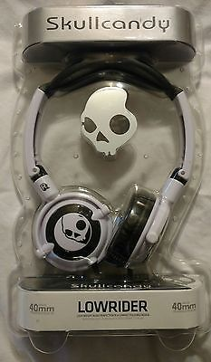 New Black & White Skullcandy Headphones LOWRIDER