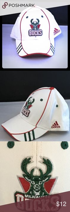 Milwaukee Bucks NBA Adidas Cap/Hat White NWOT NWOT Milwaukee Bucks NBA Adidas Cap/Hat Adidas Stretch Fit One Size Fits All  Please check out my closet for variety of other items. Just tap on my closet name.  #milwaukee #bucks #nba #basketball #espn #adidas #cap #hat #clothes #sports adidas Accessories Hats