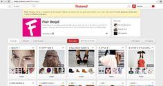 Het populair Belgisch magazine Flair gebruikt Pinterest ongeveer op dezelfde wijze als De Standaard. Namelijk ook met de verschillende onderdelen. Dat is zeer handig als je maar geïnteresseerd bent in 1 categorie (vb. mode).  http://www.pinterest.com/flairbelgie/