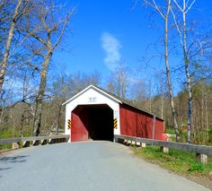 Eagleville Covered Bridge~New York Built in 1858 by Epherim Clap-Restored in 2007.