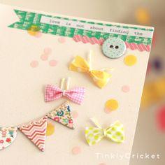 マステのちょうちょの作り方 ペーパークラフト 紙小物・ラッピング  masking tape butterfly bow