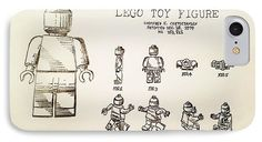Amazing Graphite Pencil Sketched Art - Vintage LEGO Toy Figure Patent -  from the art studio of Scott D Van Osdol available at fineartsamerica.com