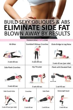 😍 Best Exercised to Eliminate Side Fat and Build Sexy Obliques & Abs! You'll be Blown Away by These Results, 😍 Best Exercised to Eliminate Side Fat and Build Sexy Obliques & Abs! You'll be Blown Away by These ResultsLooking for perfect exercise Love Fitness, Health Fitness, Women's Fitness, Planet Fitness, Fitness Memes, Physical Fitness, Fitness Inspiration, Online Fitness, Fitness Motivation