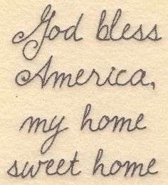 God bless America small4.45w X 5.00h