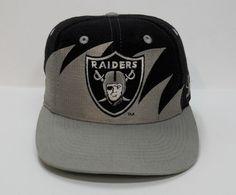 Vintage circa 1994 LA Raiders Sharktooth Snapback by Logo Athletic (pre-owned, OSFM)