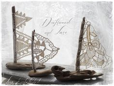 3 Petite Driftwood Beach Decor Sailboats Set of by LoveEmbellished