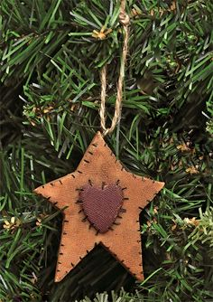 Old World Stocking Ornament - Kruenpeeper Creek Country Gifts Christmas Tree Crafts, Primitive Christmas, Christmas Love, Rustic Christmas, Handmade Christmas, Holiday Crafts, Primitive Ornaments, Primitive Crafts, Handmade Ornaments