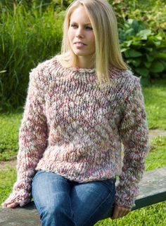 Charlotte, a quick and easy knit sweater by Cornelia Tuttle Hamilton, available exclusively on Patternfish.