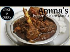 Pepper Chicken Masala is a South Indian spicy chicken semi gravy made with black pepper, red chilli and cumin seeds. Chicken Starter Recipes, Recipes With Chicken And Peppers, Indian Chicken Recipes, Spicy Chicken Recipes, Chicken Stuffed Peppers, Curry Recipes, Indian Food Recipes, Chicken Gravy Recipe South Indian, Pollo Masala