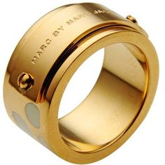 Marc By Marc Jacobs Ring (€50) ❤ liked on Polyvore featuring jewelry, rings, ivory, stainless steel rings, stainless steel jewellery, ivory ring, ivory jewelry and stainless steel jewelry