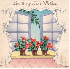 VINTAGE Greeting Card MOTHER'S Day 1942