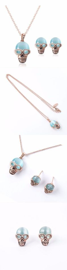 Knot jewelry set lake blue opal skull inlaid alloy necklaces earrings jewelry set #3 #piece #bridal #jewelry #sets #jewelry #set #in #bangkok #jewelry #set #off #metal #detector #jewelry #sets #under #10 #dollars