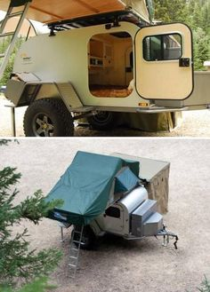 Tough All-Terrain Teardrop Trailer Goes Off-Grid, Packs Rooftop Tent : TreeHugger