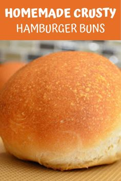 Homemade Crusty Hamburger Buns recipe are a favorite for summer barbecuing! Obviously delicious for hamburgers but also a family favorite for Pulled Pork or Chicken and Sloppy Joes from Serena Bakes Simply From Scratch. Homemade Buns, Homemade Hamburger Buns, Homemade Breads, Bread Machine Hamburger Bun Recipe, Homemade Things, Best Bread Recipe, Bread Recipes, Homemade Hamburgers, Pork Buns
