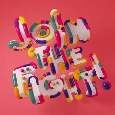 New Typographic Artworks by Carlo Cadenas – Inspiration Grid   Design Inspiration #type #typography #lettering #illustration #3D #typographyinspiration #inspirationgrid