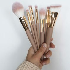 Soft Sand Brush Set - MakeupMekka Brush Set, Diffuser, Makeup, Make Up, Face Brush Set, Beauty Makeup, Bronzer Makeup